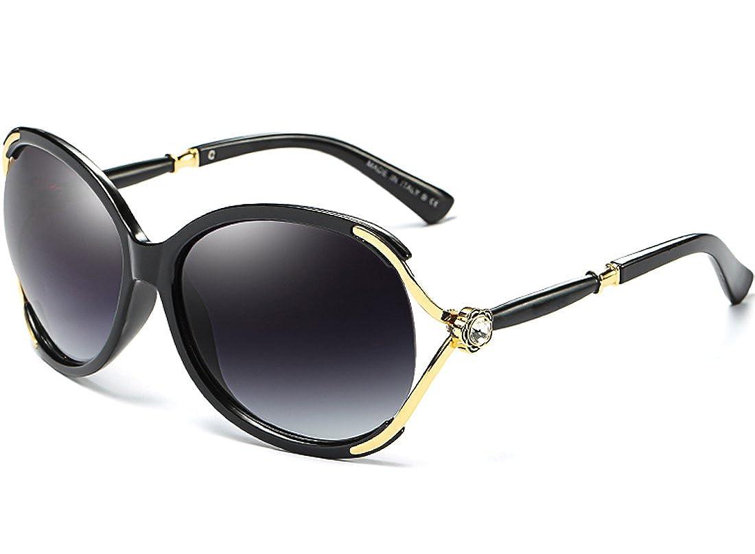 c4250974ba ATTCL Women s Oversized UV400 Protection Driving Polarized Sunglasses  7176-black  Amazon.co.uk  Clothing