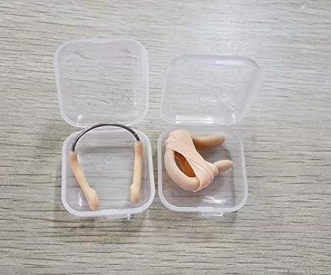 Beige Elastique Silicone Sangle Plongee Piscine Protecteur Pince-nez