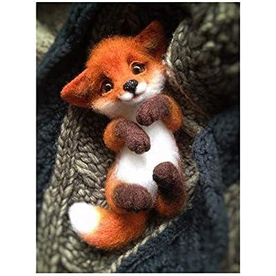 WellieSTR Wool Felt Fox Hand Made DIY Material Package Felt Animal Foxes Animals Kits Fox: Everything Else
