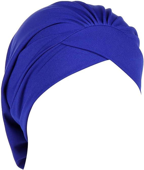 RISTHY Pañuelos Oncologicos para Mujer, Turbante Sombrero Musulmán Abaya Gorros Bufanda Color Sólido Elástico Yoga con Bambú Gorros Baño para Quimioterapia: Amazon.es: Ropa y accesorios