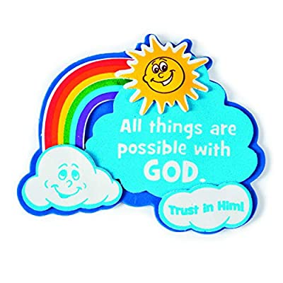 """""""All Things Are Possible with God"""" Magnet Craft Kit - Crafts for Kids and Fun Home Activities: Toys & Games"""