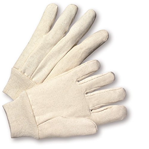 West Chester K21I 100% Cotton 12 oz. Canvas Gloves, Large, White (Pack of 12) ()