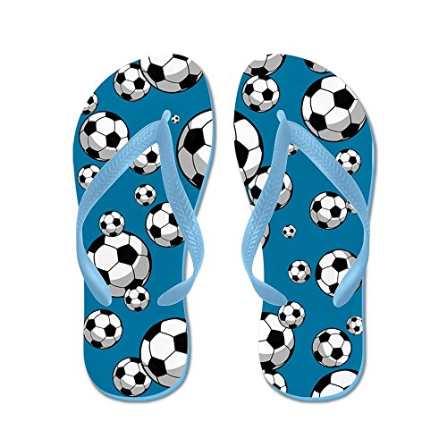 Cafepress Soccer - Flip Flops, Grappige String Sandalen, Strand Sandalen Caribbean Blue