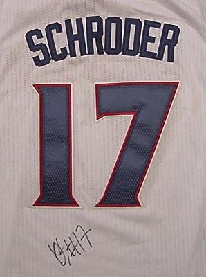 d4f6d0111 Dennis Schroder Atlanta Hawks Autographed White  17 Jersey JSA COA ...