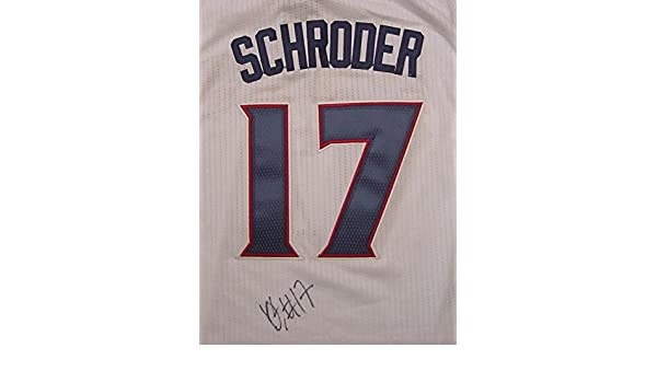 Dennis Schroder Atlanta Hawks Autographed White  17 Jersey JSA COA at  Amazon s Sports Collectibles Store 684798502