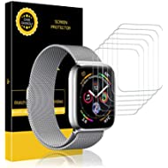 [Sponsored]LK [6 Pack] Screen Protector for Apple Watch (42mm Series 3/2/1 44mm Series 4...