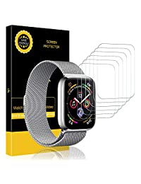 [6 Pack] LK Screen Protector for Apple Watch (42mm Series 3/2/1 44mm Series 4 Compatible), [Max Coverage] [Anti-Bubble] HD Clear with Lifetime Replacement Warranty