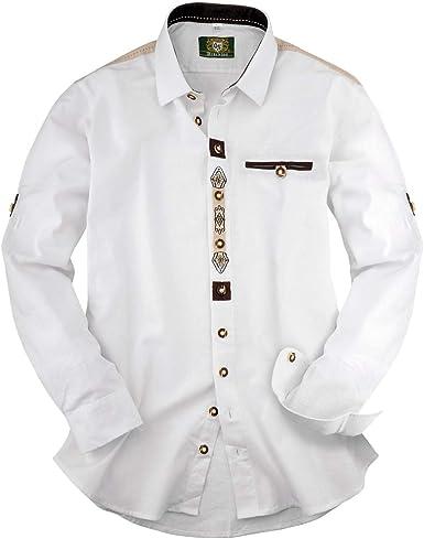 XXL Orbis Tradicional Camisa Blanca Cardigan Manga Bordada: Amazon.es: Ropa y accesorios
