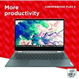 "Lenovo Chromebook Flex 5 13"" Laptop, FHD (1920 x 1080) Touch Display, Intel Core i3-10110U Processor, 4GB DDR4 OnBoard RAM, 64GB SSD, Intel Integrated Graphics, Chrome OS, 82B80006UX, Graphite Grey"