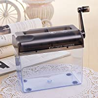 Tmarton Grey Portable Mini Manual Hand Shredder A6 Paper Documents Handmade Straight Cutting Machine Tool For Office Home Desktop Stationery