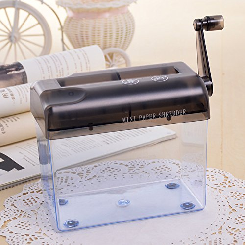 Tmarton Grey Portable Mini Manual Hand Shredder A6 Paper Documents Handmade Straight Cutting Machine Tool For Office Home Desktop Stationery