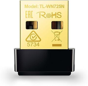 TP-Link TL-WN725N Adaptador WiFi USB inalámbrico Nano, Compatible con Raspberry Pi, N 150 Mbps, Botón WPS, AP soft Windows10/8.1/8/7/XP, Mac OS X ...