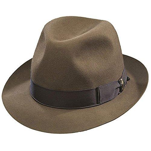- Borsalino Beaver Fur Felt Hat - Small Brim-Fawn-57
