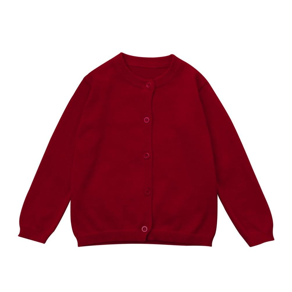 Infant Baby Boys Girls Winter Clothes, Solid Knitted Sweater Top Cardigan Coats Tenworld