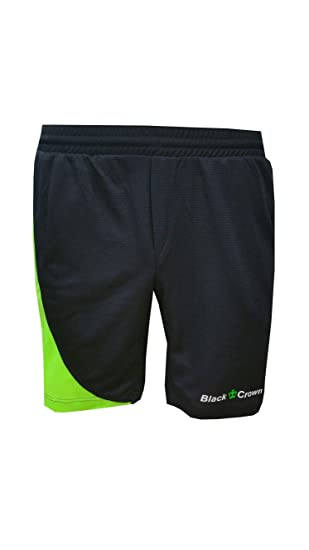Pantalón Padel Black Crown Hombre Ball negro verde-XL: Amazon.es ...