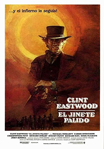 Pale Rider Poster Spanish Clint Eastwood Michael Moriarty Carrie Snodgress