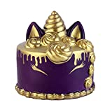 Anboor 4.3'' Squishies Unicorn Cake Mousse Kawaii Slow Rising Scented Squishies Kids Toy for Gift Collection Purple