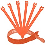 Reusable Cable Ties 1/2'' x 8'' - 30 Pack (Orange)