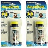 AquaChek 2 New 561140A Swimming Pool Spa White Salt Titrators Test Kit Strips