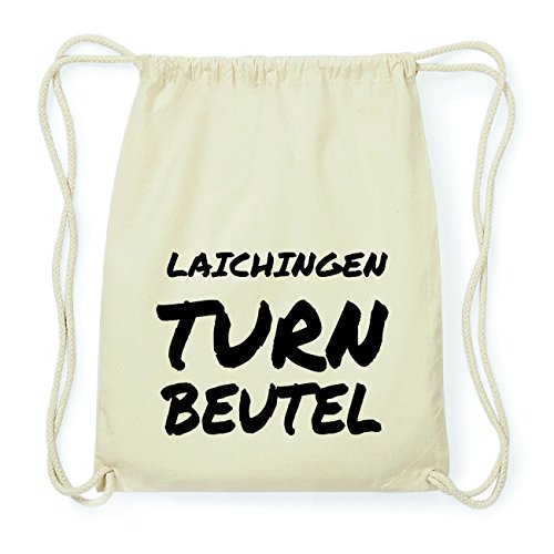 JOllify LAICHINGEN Hipster Turnbeutel Tasche Rucksack aus Baumwolle - Farbe: natur Design: Turnbeutel Luhr328I