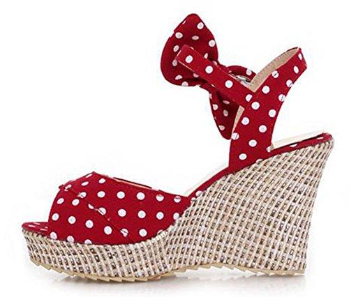 Easemax Sandales Compensées En Peep Toe Pour Femme