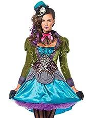 Leg Avenue 85505 - Deluxe Mad Hatter Kostüm, Größe L (EUR 40), Damen Karneval Kostüm Fasching