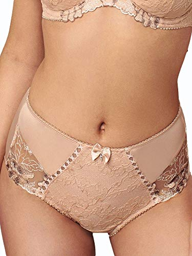 Pour Moi Sofia Lace Deep Brief - Latte Latte USLarge
