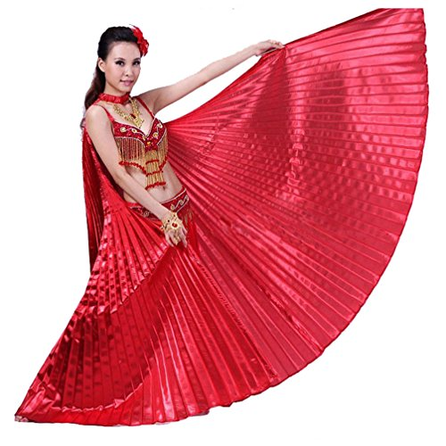 Stick Dance Costume (Fabal 1PC Egypt Belly Wings Dancing Costume Belly Dance Accessories No Sticks (Free Size, Red))