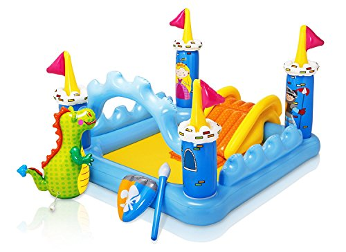 Kids Outdoor Water Blue Bouncer Castle Palace Slide Play Center Inflatable Backyard Fantasy Park With Built-in Dragon Bop Bag Garden Summer Games - Skroutz ()