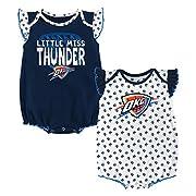OuterStuff NBA Newborn & Infant Heart Fan  2 Piece Onesie Oklahoma City Thunder-Dark Navy-12 Months