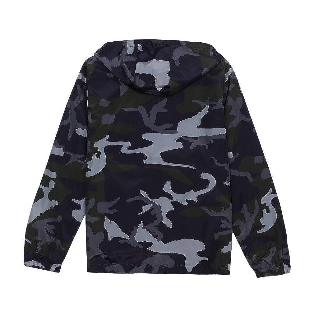iLXHD Mens Zip-up Camouflage Long Sleeve Pocket Sport Hoodies Jacket Coat