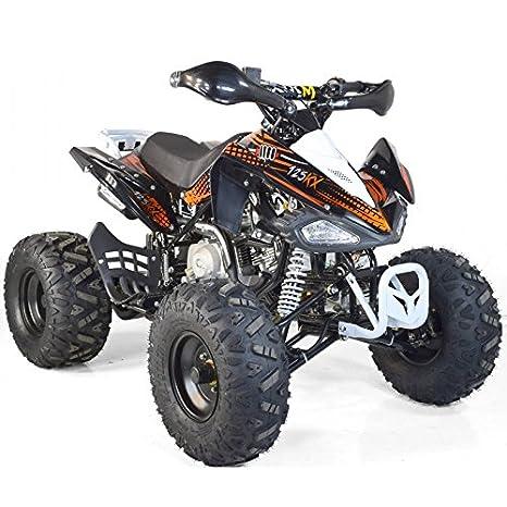 Quad infantil 125 cc KX 4T Luxe - naranja, con montaje, verificación y ensayo en taller: Amazon.es: Coche y moto