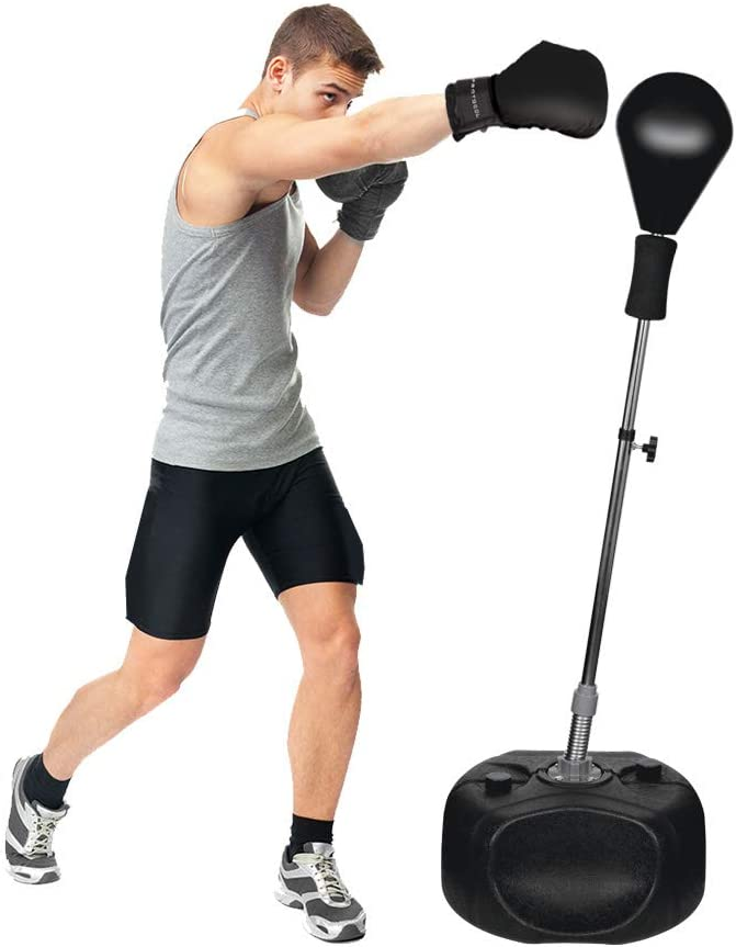 Protocol パンチングボール 高さ調整可能 タフなビリングに対応 お買い得 ブラック