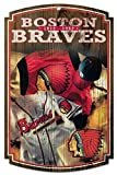 Atlanta Braves Cooperstown Collection MLB 11 x 17inch wood Sign
