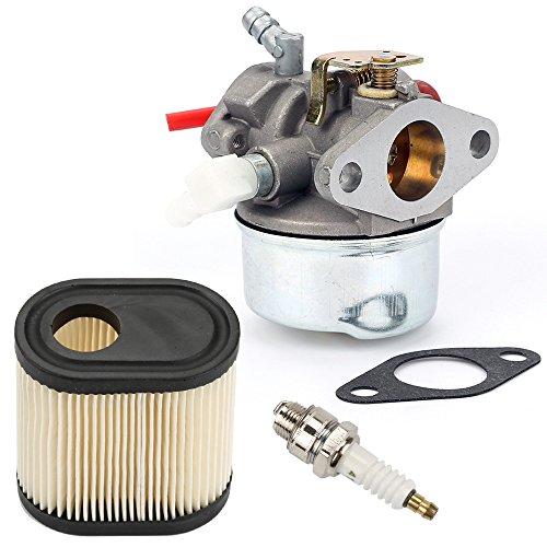 (Hilom 640350 Carburetor with Air Filter Spark Plug & Gasket for Tecumseh LEV100 LEV105 LEV120 LV195EA LV195XA 640303 640271 Carb Toro Recycler Lawnmowers 20016 20017 20018 6 6.25 6.5 6.75 HP Engines)