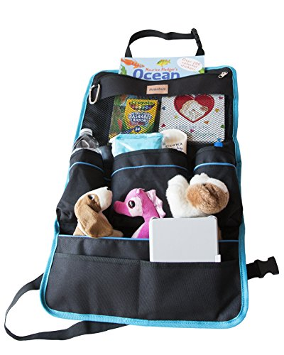 Backseat Car Organizer incl Tablet Holder|Touch Screen|Best for Android/IOS up to 10.1"
