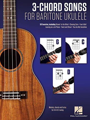 Amazon 3 Chord Songs For Baritone Ukulele G C D Melody