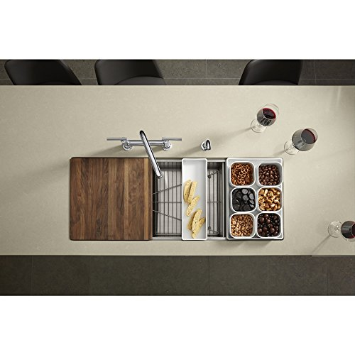 KOHLER K-3761-NA Stages 45-Inch Stainless Steel Kitchen Sink by Kohler (Image #3)