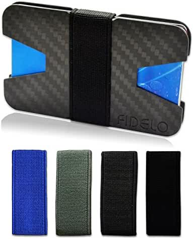 Slim Front Pocket Mens Wallet Money & Card Holder - Minimalist & Small Wallets for Men with Bills Clip Band