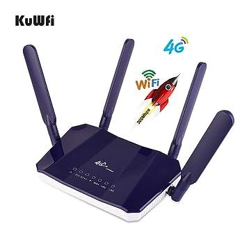 KuWFi Router Inalámbrico 4G LTE, 300 Mbps Mobile Modem 4G Ap ...