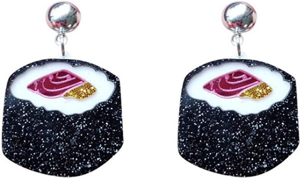 YINLIN Acrylic Sushi Food Stud Dangle Earring Rice Sushi Jewelry