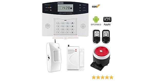 Kit alarma inalámbrica GSM para casa o negocio App IOS Android modelo 30-A sin cuotas: Amazon.es: Bricolaje y herramientas