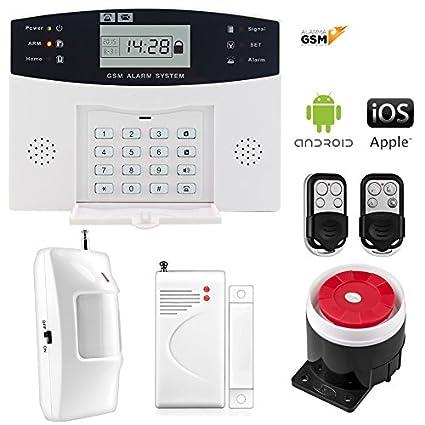 Kit alarma inalámbrica GSM para casa o negocio App IOS Android modelo 30-A sin cuotas