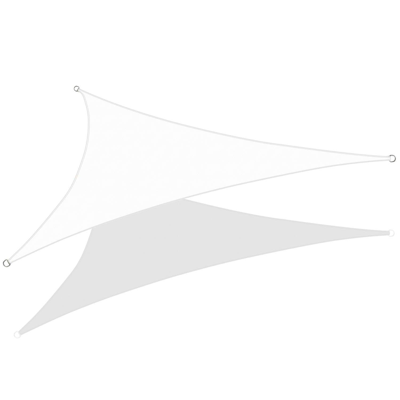 KHOMO GEAR Triangle Sun Shade Sail 22 x 22 x 22 Ft UV Block Fabric – White