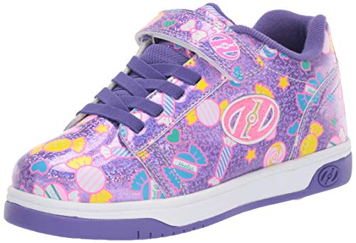 Heely S Skate Shoes - Heelys Girls' Dual Up X2 Tennis Shoe, Lilac Glitter/Purple/Candy, 13c M US Little Kid