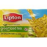 Lipton 100% Natural Fresh Brewed Green Iced Tea, 24 Gallon Size Tea Bags