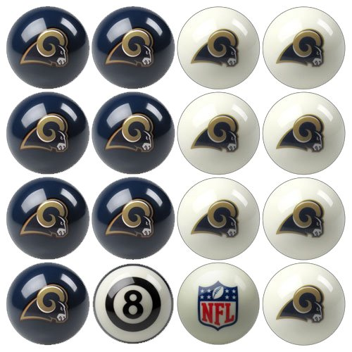 Imperial Officially Licensed NFL Merchandise: Home vs. Away Billiard/Pool Balls, Complete 16 Ball Set, St. Louis Rams