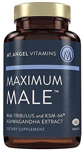 Mt. Angel Vitamins - Maximum Male with KSM-66 High Potency Ashwaganda, Tribulus Terrestris, Horny Goat Weed, Ginkgo Biloba and Oysters