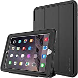 TECHGEAR D-FENCE Case for New Apple iPad 9.7' ( 2018 / 2017 ) - Slimline Shock Proof Tough Rugged Protective Armour Defence Smart Case with Detachable Screen Cover / Stand - Kids Schools Builders Workman Case [ALL BLACK] - for 5th & 6th Generation iPad 9.7'