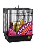 Prevue Hendryx 91103 Square Roof Bird Cage Kit, Black
